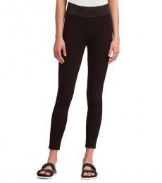 Black Solid Ponte Legging