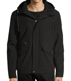 Calvin Klein Black Fur-Lined Hooded Jacket