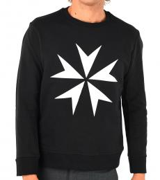 Neil Barrett Black Printed Sweatshirt