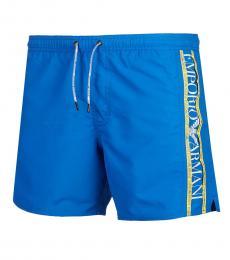Blue Logo Swimming Trunk