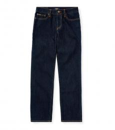 Ralph Lauren Boys Blue Hampton Straight Stretch Jeans