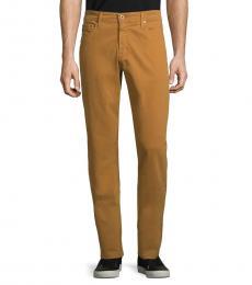 AG Adriano Goldschmied Burnt Saffron Slim Straight-Fit Jeans