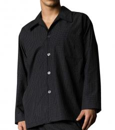 Ralph Lauren Black Soho Plaid Pajama Shirt