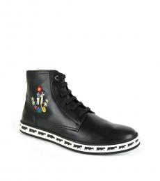 Bally Black Anistern Hi Top Sneakers