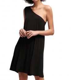 DKNY Black Offshoulder Dress
