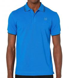 McQ Alexander McQueen Turquoise Classic patch Polo