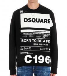 Black Graphic Logo Sweatshirt