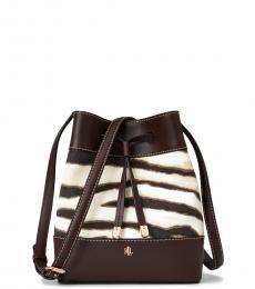 Ralph Lauren ZebraPrint Debby Medium Bucket Bag