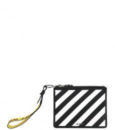 Black & White Diagonal Clutch