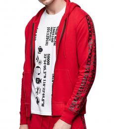 True Religion Red Logo Hoodie Jacket