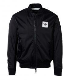 Emporio Armani Black Logo Bomber Jacket