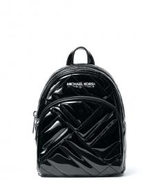 Michael Kors Black Abbey Quilted Mini Backpack