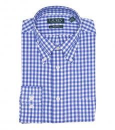 Ralph Lauren Blue Plaid Regular Fit Dress Shirt