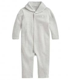 Ralph Lauren Baby Boys Andover Heather French-Rib Coverall