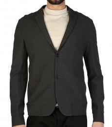 Dark Grey Solid Blazer