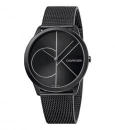 Calvin Klein Black Minimal Logo Watch