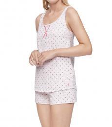 Calvin Klein Maraschino Cherry Print Cherry Cordial Racerback Tank Shorts Pajama Set