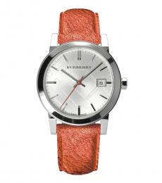Metallic Strap Logo Watch