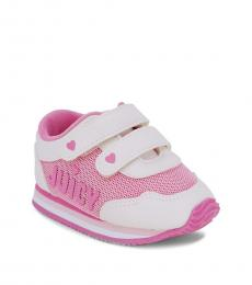 Juicy Couture Baby Girls White Pink Heart Sneakers