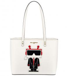 White Maybelle Choupette Large Tote