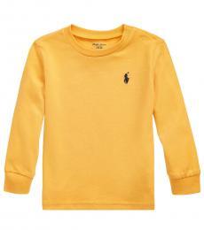 Ralph Lauren Baby Boys Gold Bugle Long-Sleeve T-Shirt