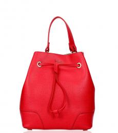 Furla Red Stacy Small Bucket Bag