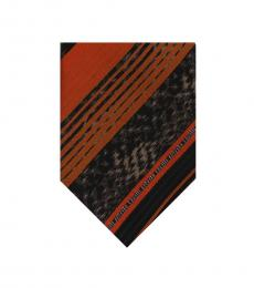 Orange Regimental Stripe Tie
