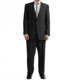 Grey Striped Pattern Wool Suit