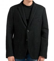 Black Wool Two Button Sport Coat