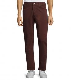 AG Adriano Goldschmied Deep Mahogany Slim Straight-Fit Jeans