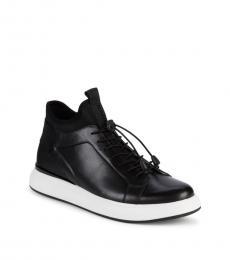 Black Drawstring Sneakers