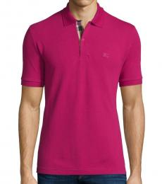 Burberry Coral Pink Classic Fit Polo