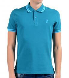 Versace Jeans Blue Short Sleeve Polo