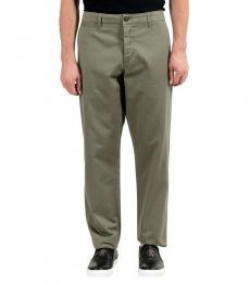 Olive Green Casual Pants