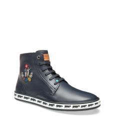Bally Ink Blue Anistern Hi Top Sneakers