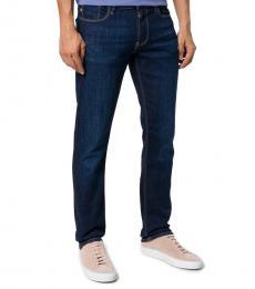 Dark Blue Straight-Leg Jeans