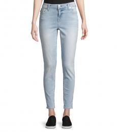 Blue Logo Stretch Jeans