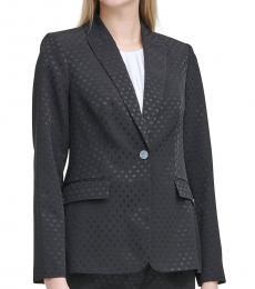 Black Shadow Dot Button Jacket