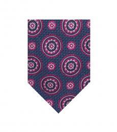 Purple Sun Medallion Silk Tie