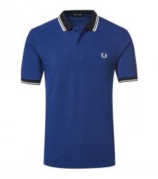 Fred Perry Royal Blue Contrast Collar Polo