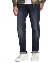 Lucky Brand Navy Blue Straight Jeans