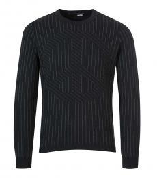 Black Striped Allover Sweater