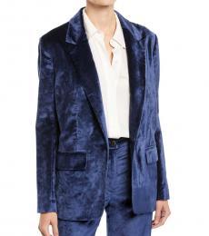 Rag And Bone Blue Oversized Velvet Blazer