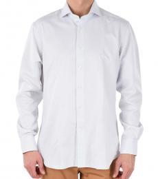 White Semi-French Neck Shirt