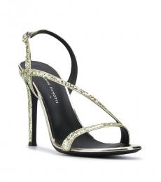 Giuseppe Zanotti Gold Glitter Leather Heels