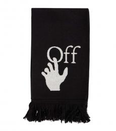 Off-White Black Logo Scarf