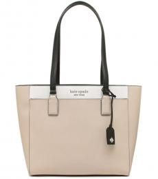 Kate Spade Warm Beige Cameron Colorblock Large Tote