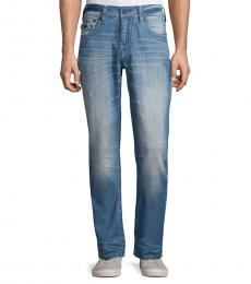 True Religion Light Blue Ricky Straight Leg Jeans