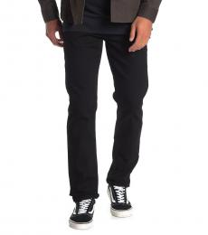 True Religion Black Geno Relaxed Slim Jeanss