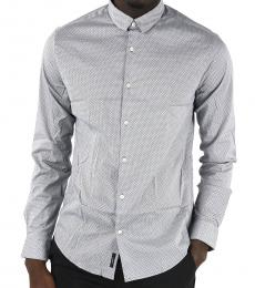 Armani Jeans Grey Polka Dots Slim Fit Shirt
